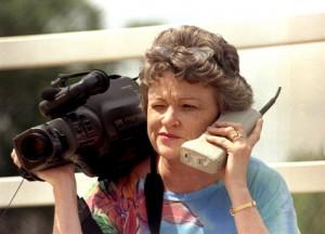 videokamera ja puhelin 1985
