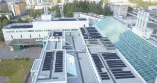 Kauppakeskus Myyrmanni tuottaa aurinkosähköä